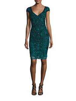 Embellished Tulle Sheath Dress by Theia in La La Land