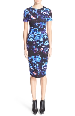 Floral Print Body-Con Dress by McQ By Alexander McQueen in Arrow