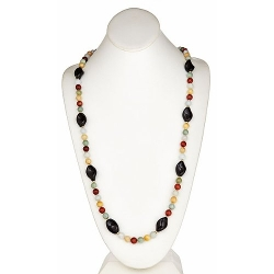 Multi Color Jade Knotted Necklace by Trendy Design in Magic Mike XXL