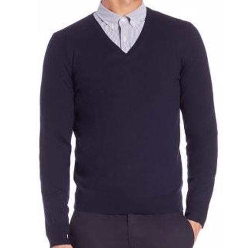 Dockley Merino Wool V-Neck Sweater by Burberry in Billions - Season 1 Episode 5