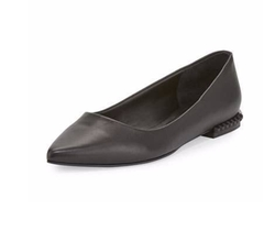 Fallon Leather Studded-Heel Flats by Rebecca Minkoff in New Girl