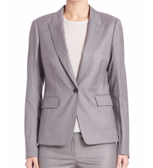 Jelenna Wool Jacket by Boss in How To Get Away With Murder - Season 3 Episode 4