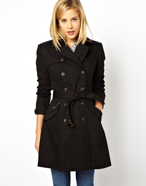 Classic Trench Coat by Asos in Pretty Little Liars - Season 6 Episode 6