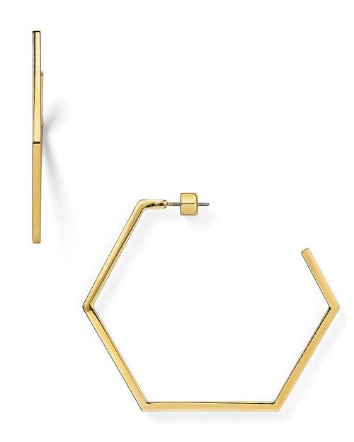 Hexagonal Hoop Earrings by Marc by Marc Jacobs in Adult Beginners