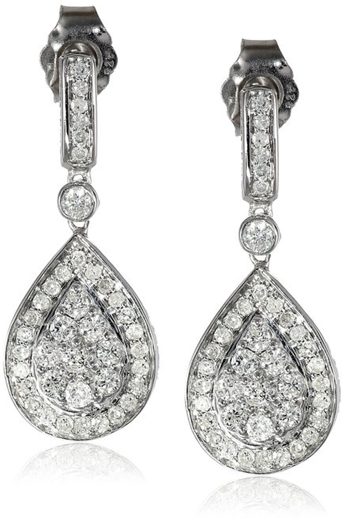 Diamond Teardrop Dangle Post Earrings by Amazon Collection in The Mindy Project - Season 4 Episode 1