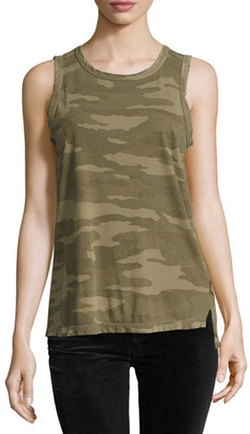 Camo Print Muscle Tee by Current/Elliott in The Fate of the Furious