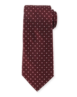 Small Medallion-Print Silk Tie by Armani Collezioni in Billions
