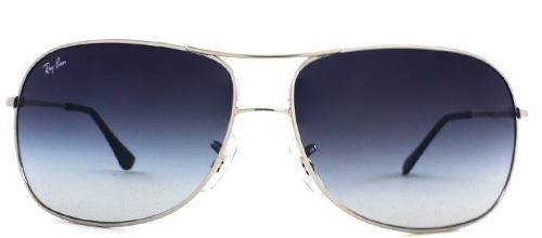 Silver Metal Square Aviator by RAY BAN in Sabotage