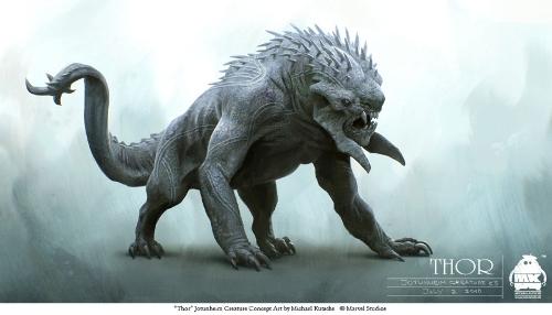 Jotunheim Creature by Michael Kutsche (Concept Artist) in Thor