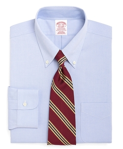 Non-Iron Traditional Fit Button-Down Collar Dress Shirt by Brooks Brothers in Pitch Perfect 2