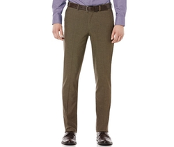 Travel Lux Very-Slim-Fit Flat Front Dress Pants by Perry Ellis in Clueless
