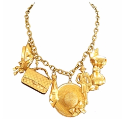 Gold Plated Charm Necklace by Chanel in Empire