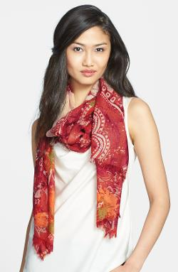 'Baroque Floral' Wool Scarf by Nordstrom in New Year's Eve