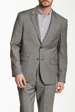 Sharkskin Wool Blend Suit Separates Jacket by Report in Fight Club