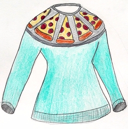 Pizza Sweater by Lisa Lucia Knits in Fuller House
