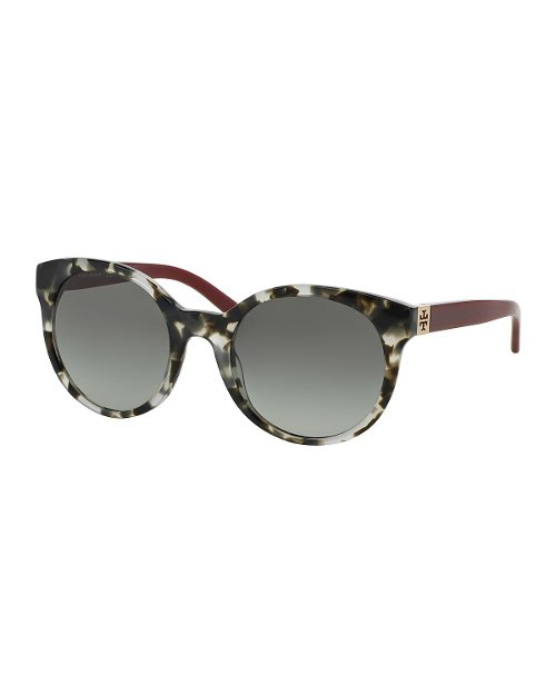 Round Colorblock Sunglasses by Tory Burch in Entourage