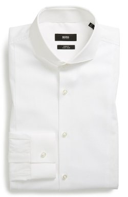 'Jordan' WW Slim Fit Tuxedo Shirt by Boss Hugo Boss in The Matrix