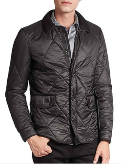 Townsend Quilted Jacket by Burberry Brit in Black Mass