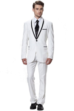 Men's Two-Piece Side-Vent Modern-Fit Suit by CMDC in Gossip Girl