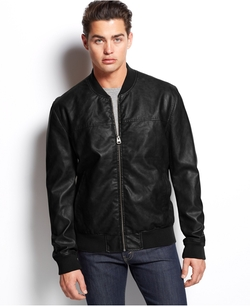 Faux-Leather Varsity Bomber Jacket by Levi's in Bridge of Spies