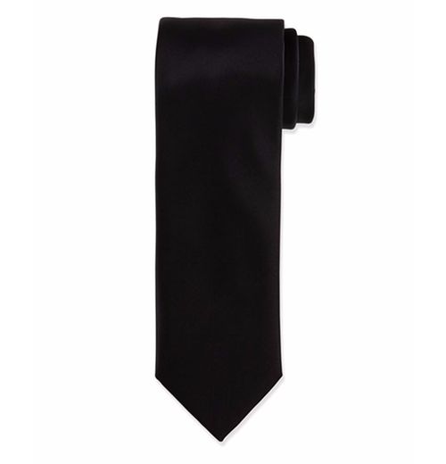 Solid Silk Satin Tie by Brioni  in John Wick: Chapter 2