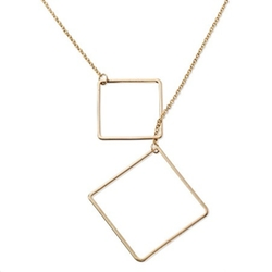 Women's Square Toggle Long Necklace by Target in Fuller House