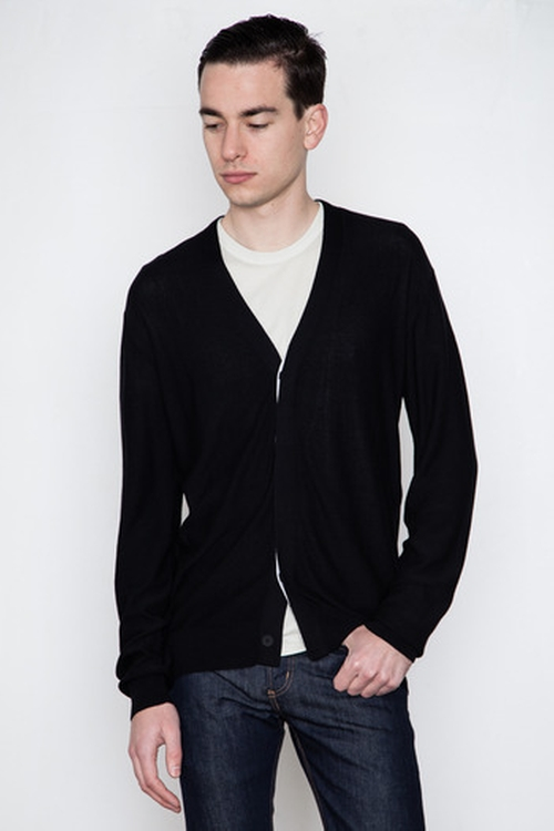 Men's Hidden Placket Cardigan by T by Alexander Wang in Crazy, Stupid, Love.