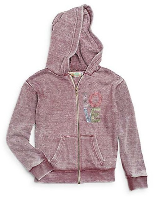 Girl's Rhinestone Embellished Hoodie by Vintage Havana in (500) Days of Summer