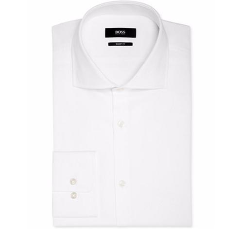 Sharp-Fit Cross-Stitched Dress Shirt by Hugo Boss in La La Land