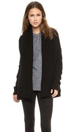 Chevron Shawl Cardigan by Vince in The Disappearance of Eleanor Rigby