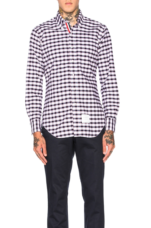 Gingham Check Oxford Shirt by Thom Browne in Why Him?