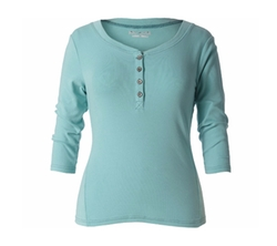 Micro-Rib Henley Tee by Royal Robbins in New Girl