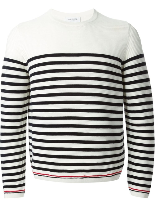 Striped Crew Neck Sweater by Thom Browne in Empire - Season 2 Episode 1