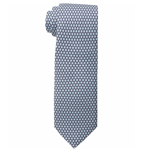 Honeycomb Geo Printed Tie by Vineyard Vines in New Girl