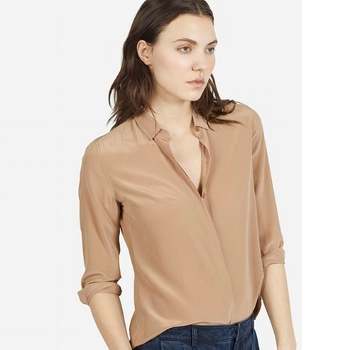 The Modern Silk Point Collar Shirt by Everlane in The Boss