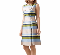Ada Striped Dress by Hobbs London in The Good Fight