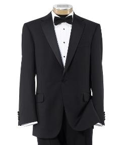 Joseph Slim Fit 1 Button Tuxedo with Plain Front Trousers by Jos. A. Bank in New Year's Eve
