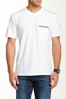 Chambray Zip Pocket Tee by Truth, Substance & Common Sense in Rock The Kasbah