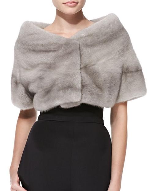 Mink Fur Wrap by Monique Lhuillier in Fifty Shades Darker