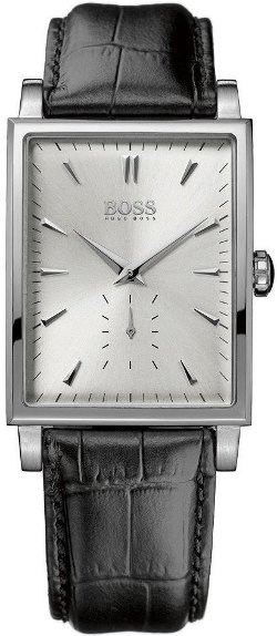 Rectangular Leather Strap Watch by Hugo Boss in The Gunman