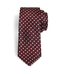 Dortee Spotty Skinny Tie by Ted Baker in Rosewood