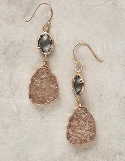 Reflection Drops Earrings by Anthropologie in Arrow