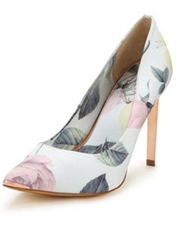 Adecyn Light Floral Print Court Shoes by Ted Baker in Scream Queens