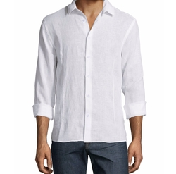 Solid Long-Sleeve Linen Shirt by Orlebar Brown in Sneaky Pete