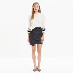 Asymmetrical Pinstripe Mini Skirt by Madewell in Supergirl