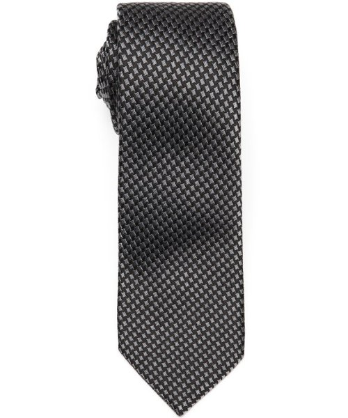 Anthracite Patterned Woven Silk Tie by Gucci in Fifty Shades of Grey