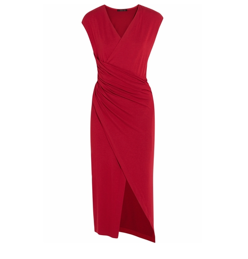 Ruched Stretch-Jersey Dress by Donna Karan New York in Mistresses - Season 4 Episode 1