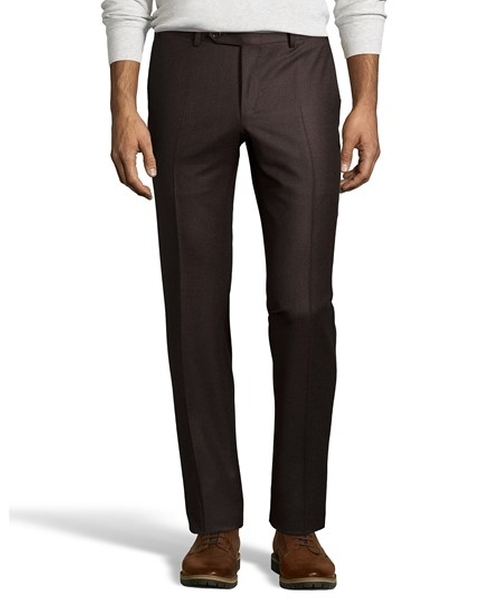 Wool Twill Flat Front Dress Pants by Canali in Free State of Jones