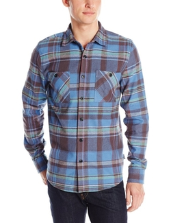 Men's Slim-Fit Plaid Long-Sleeve Button-Front Shirt by Threads 4 Thought in The Big Bang Theory