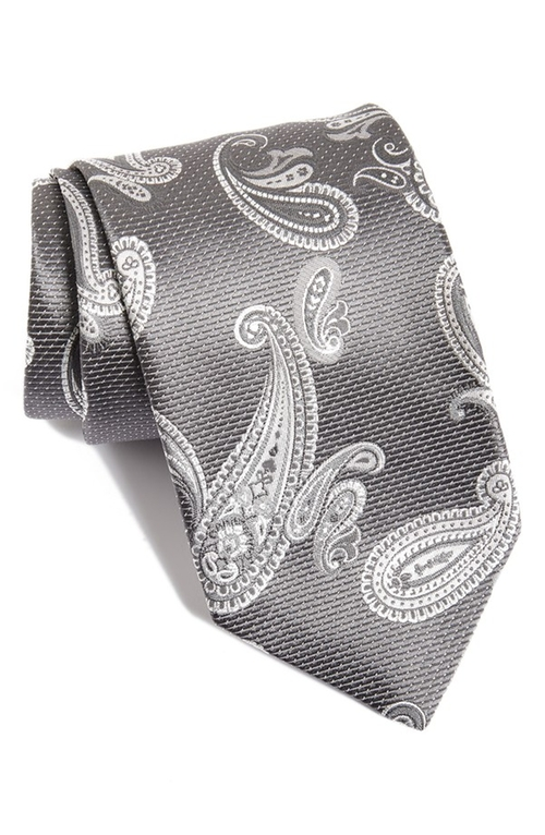 Paisley Silk Tie by David Donahue in Ballers - Season 1 Episode 6
